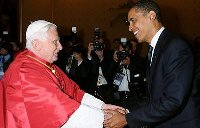 Pope with President Obama